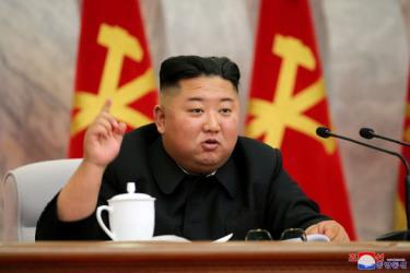 Chủ tịch Kim phát biểu tại cuộc họp Quân ủy Trung ương Triều Tiên hôm 23-5.