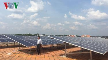 Điện mặt trời áp mái được lắp đặt tại khu vực miền Trung.