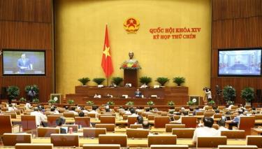 Quang cảnh phiên họp của Quốc hội.