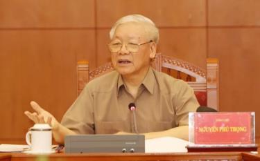 Sáng 26/5, Tổng Bí thư, Chủ tịch nước Nguyễn Phú Trọng chủ trì cuộc họp Thường trực Ban Chỉ đạo Trung ương về phòng, chống tham nhũng.
