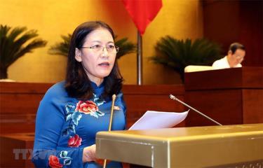 Chủ nhiệm Ủy ban Tư pháp của Quốc hội Lê Thị Nga.