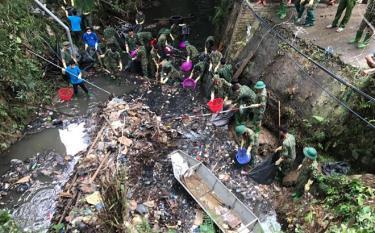 Tuổi trẻ thành phố tham gia hoạt động tình nguyện bảo vệ môi trường.