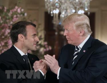 Tổng thống Mỹ Donald Trump và Tổng thống Pháp Emmanuel Macron.