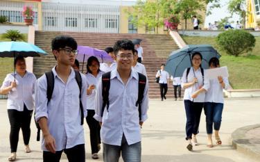 Thí sinh tỉnh Yên Bái trong kỳ thi THPT quốc gia năm 2019.