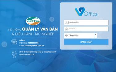 Giao diện Hệ thống phần mềm quản lý văn bản và điều hành tỉnh Yên Bái (VOffice) tại địa chỉ http://qlvb.yenbai.gov.vn.