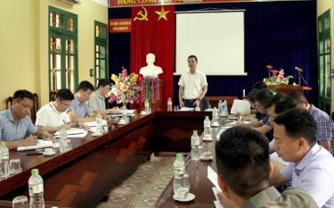 Đồng chí Dương Văn Tiến - Phó Chủ tịch UBND tỉnh phát biểu kết luận buổi làm việc tại Cơ sở cai nghiện ma túy tỉnh.