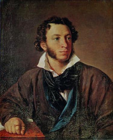 Họa phẩm chân dung Aleksandr S. Pushkin do Vasily Tropinin thực hiện năm 1827. Nguồn: Internet.
