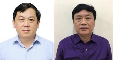 Ông Hoàng Hồng Giang (trái) và bị can Trần Đức Hải (phải).