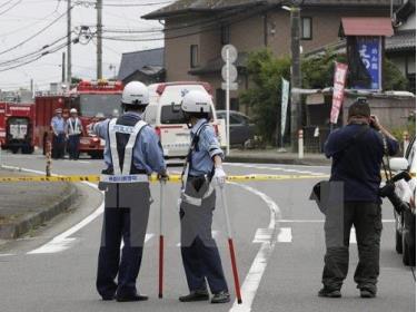 Cảnh sát Nhật Bản trong lúc làm nhiệm vụ.