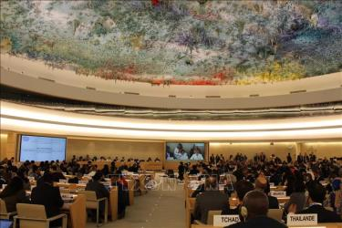 Quang cảnh phiên khai mạc khóa họp thường kỳ lần thứ 39 của Hội đồng Nhân quyền Liên hợp quốc, ngày 10/9/2018 tại Geneva (Thụy Sĩ).