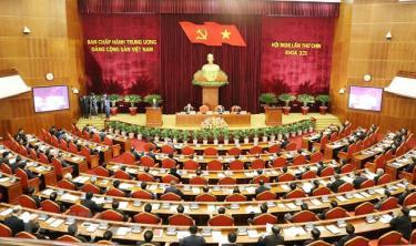 Hình ảnh tại Hội nghị Trung ương 9, khóa XII.