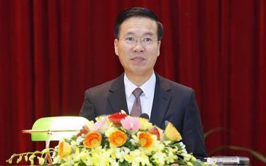 Đồng chí Võ Văn Thưởng, Ủy viên Bộ Chính trị, Bí thư TƯ Đảng, Trưởng Ban Tuyên giáo Trung ương.