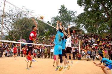 Đời sống văn hóa tinh thần, thể dục thể thao của người dân được nâng cao. Ảnh MQ