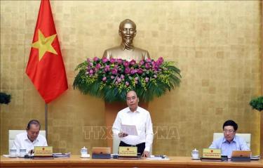 Thủ tướng Nguyễn Xuân Phúc chủ trì phiên họp Chính phủ thường kỳ tháng 5/2020.