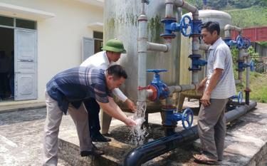 Công trình nước sạch tại xã Đông An (Văn Yên) đạt hiệu quả cao từ khi đi vào sử dụng. (Ảnh: Minh Huyền)