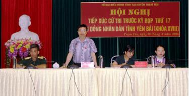 Đại biểu HĐND tỉnh giải trình những vấn đề cử tri quan tâm.