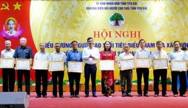 Hội viên người cao tuổi có thành tích xuất sắc trong xây dựng hệ thống chính trị ở cơ sở, giai đoạn 2014 - 2019 nhận bằng khen của UBND tỉnh.