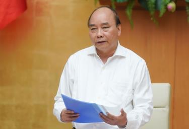 Thủ tướng Nguyễn Xuân Phúc phát biểu tại cuộc họp