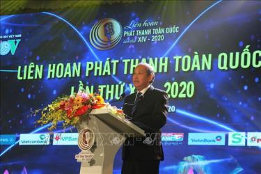 Phó Thủ tướng Thường trực Chính phủ Trương Hòa Bình phát biểu tại đêm khai mạc liên hoan.