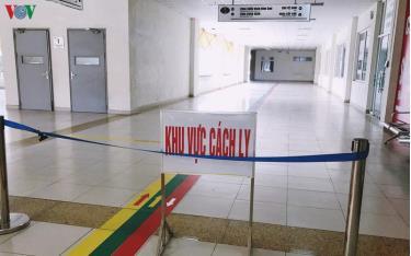 Khu vực cách ly tại Bệnh viện Bệnh Nhiệt đới Trung ương.