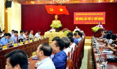 Quang cảnh Hội nghị lần thứ 31 (mở rộng) Ban Chấp hành Đảng bộ tỉnh Yên Bái khóa XVIII