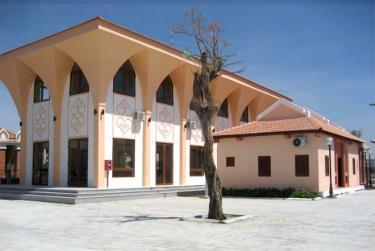Nhà sinh hoạt cộng đồng dân tộc Chăm thôn Bàu Trúc.