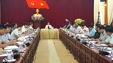 Ban Thường vụ Tỉnh ủy cho ý kiến vào các nội dung công tác chuẩn bị Đại hội điểm Đảng bộ huyện Văn Yên, nhiệm kỳ 2020 - 2025.