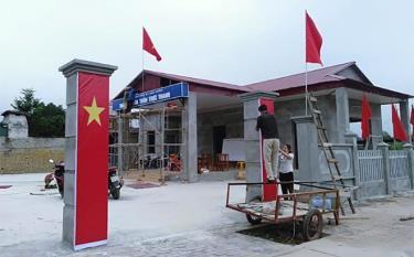 Nhà văn hóa thôn Trực Thanh được xây mới, trị giá trên 450 triệu đồng từ nguồn xã hội hóa.