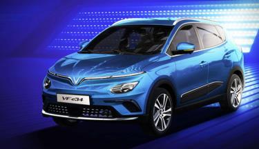 Mẫu xe điện VinFast VF e34 có công suất tối đa 110kW. Ảnh: VinFast.