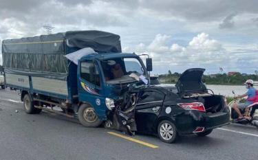Hiện trường xảy ra vụ tai nạn thương tâm.
