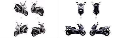 Honda đã đăng ký và được Cục Sở hữu trí tuệ cấp chứng nhận bảo hộ kiểu dáng công nghiệp đối với hai dòng xe Honda SH350i và Honda PCX 160