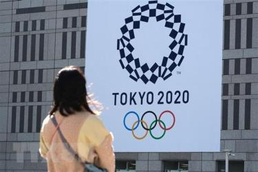 Biểu tượng Thế vận hội mùa Hè Tokyo 2020 tại Tokyo, Nhật Bản.