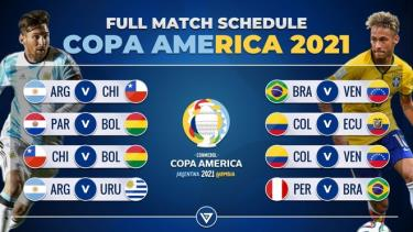 Copa America 2021 diễn ra từ 14/6 đến 11/7.
