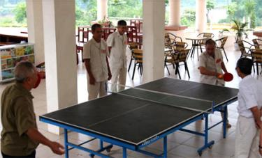 Trung tâm trang bị đầy đủ cơ sở vật chất để các đại biểu người có công rèn luyện sức khỏe.