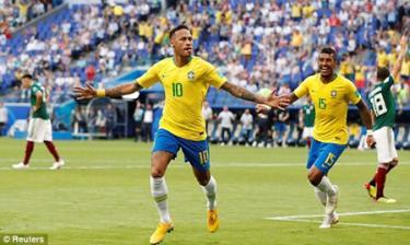Neymar sắm vai người hùng của Brazil.