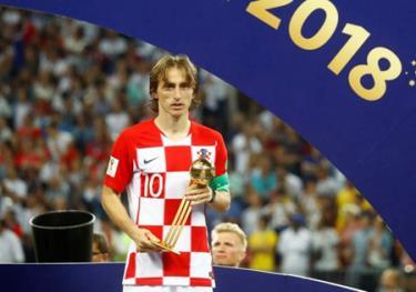 Tiền vệ Luka Modric của tuyển Croatia đã giành được danh hiệu Quả bóng Vàng.
