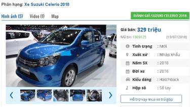 Suzuki Celerio MT số sàn giá 329 triệu đồng góp phần khiến phân khúc xe ô tô cỡ nhỏ sôi động hơn.