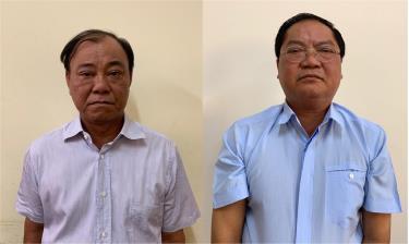 Bị can Lê Tấn Hùng và Nguyễn Thành Mỹ. Ảnh Bộ Công an