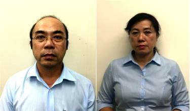 Bị can Vân Trọng Dũng và bị can Nguyễn Thị Thúy.