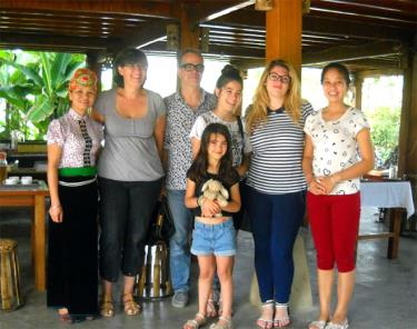 Homestay của gia đình bà Hoàng Thị Loan thu hút nhiều du khách nước ngoài. (Ảnh: Thu Hạnh)