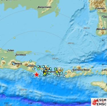 Bản đồ khu vực xảy ra động đất.
