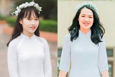 Chân dung đôi bạn cùng tiến Hà Phương (bên trái) và Quỳnh Trang (bên phải).