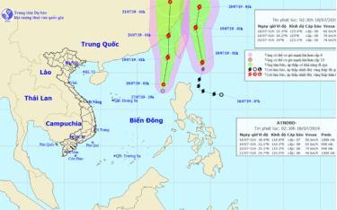Đường đi của bão Danas và áp thấp nhiệt đới (Ảnh: Trung tâm Dự báo Khí tượng Thủy văn Quốc gia).