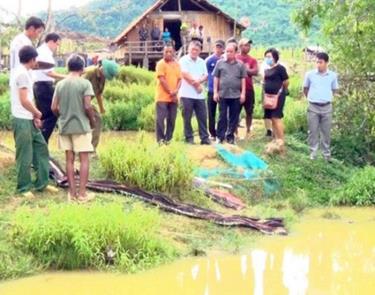 Hiện trường vụ đuối nước thương tâm.