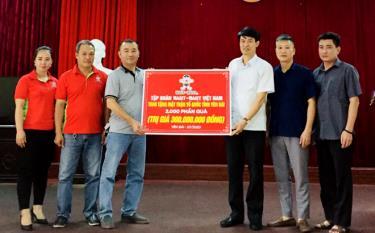 Ủy ban Mặt trận Tổ quốc tỉnh tiếp nhận 2.000 phần quà trị giá 300 triệu đồng do Công ty TNHH Thương mại Want-Want Việt Nam trao tặng.