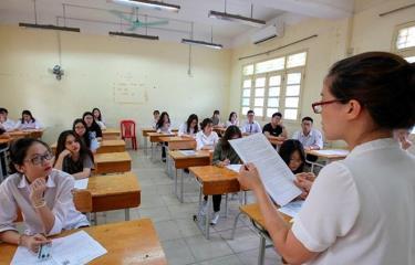 Thí sinh dự thi Trung học phổ thông quốc gia.