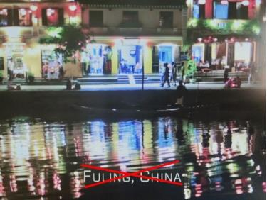 Phố cổ Hội An được chú thích thành một địa danh ở Trung Quốc trong phim