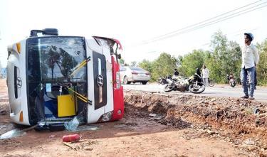 Hiện trường vụ tai nạn trên đảo Phú Quốc.