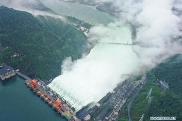 Hồ thủy điện ở Chiết Giang mở toàn bộ cửa xả lũ hôm 8.7.