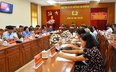 Các đại biểu tham dự Hội nghị tại điểm cầu tỉnh Yên Bái